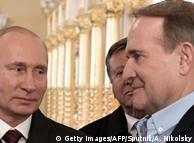 Володимир Путін і Віктор Медведчук (праворуч) у Ново-Єрусалимському монастирі, 15 листопада