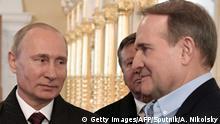 Russland Wladimir Putin und Wiktor Medwedtschuk
