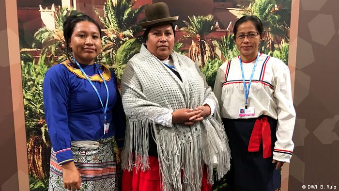 Latin American women at COP23 working for climate protection