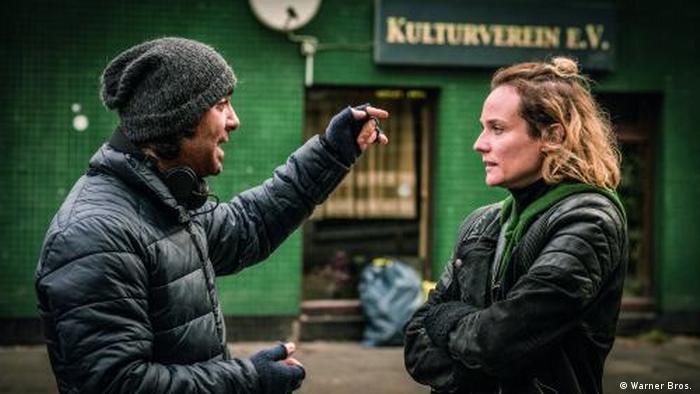 Drehszene mit Akin und Kruger zum Film «Aus dem Nichts» (Warner Bros. )