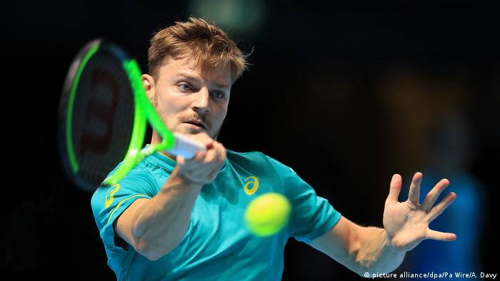 ATP-World Tour Finals David Goffin in Aktion (picture alliance/dpa/Pa Wire/A. Davy)