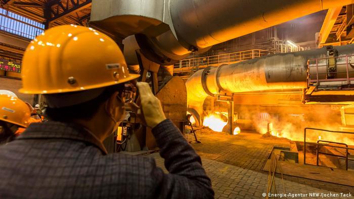 ThyssenKrupp in Duisburg - Hochofen (Energie-Agentur NRW /Jochen Tack)