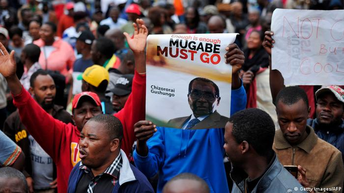 Simbabwe Proteste in Harare (Getty Images/AFP)