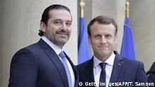 Frankreich Saad Hariri und Emmanuel Macron