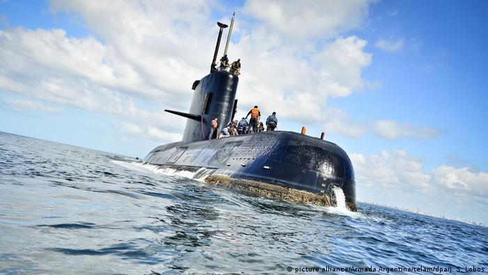 Argentinisches U-Boot verschollen (picture alliance/Armada Argentina/telam/dpa/J. S. Lobos)