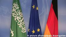 DEUTSCHLAND, BERLIN, 08.02.2008, Flaggen von Saudi Arabien, Europa und Deutschland. | Keine Weitergabe an Wiederverkäufer.
