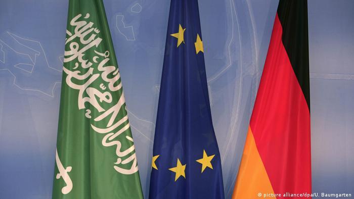 Flaggen Saudi Arabien, Europa, Deutschland.