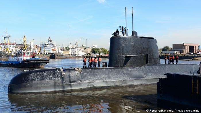 The Argentine military submarine ARA San Juan and crew (Reuters/Handout: Armada Argentina)