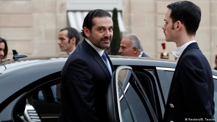 Saad Hariri in Paris (Reuters/B. Tessier)