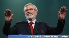 Irland Dublin Sinn-Fein-Chef Adams gibt Parteivorsitz ab (picture-alliance/PA Wire/B. Lawless)