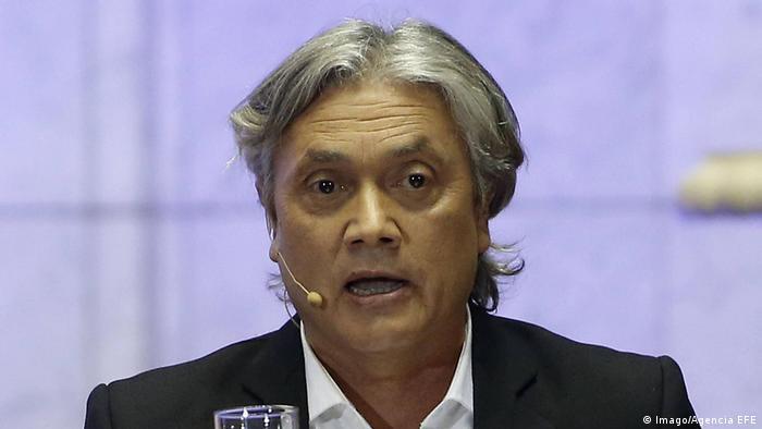 A portrait of presidential candidate Alejandro Navarro