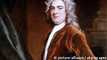 Haendel / Gemaelde von Jan van der Banck Haendel, Georg Friedrich Komponist Halle 23.2.1685 - London 14.4.1759. - Portraet. - Gemaelde von Jan van der Banck