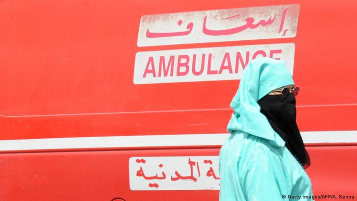 An ambulance in Morocco