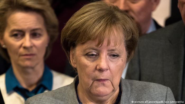 Deutschland Angela Merkel Scheitern der Sondierungsgespräche (picture alliance/dpa/B. von Jutrczenka)