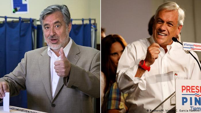 Chile Kombibild Alejandro Guillier und Sebastian Pinera (Reuters/M. Visedo/C. Garcia Rawlins)