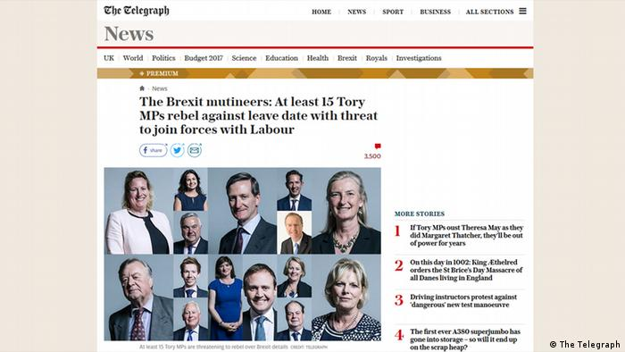Screenshot The Telegraph The Brexit multineers (The Telegraph)