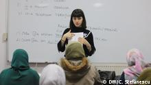 Rumänisch für Flüchtlinge. Sprache ist ein erster Schritt für Integration. Foto: DW / Cristian Ștefănescu