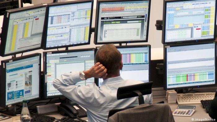 Брокер на Франкфуртской бирже