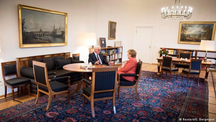 President Frank-Walter Steinmeier holds talks with Chancellor Angela Merkel