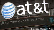 USA AT&T Logo in New York