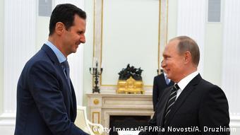 Асад и Путин в Кремле, октябрь 2015