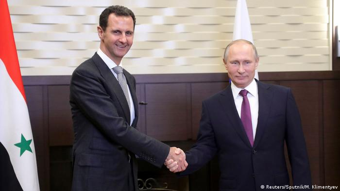 Putin Bicarakan Masalah Terorisme dengan Presiden Suriah | dunia ... Deutsche Welle Russland Sotschi Treffen Assad und Putin (Reuters/Sputnik/M. Klimentyev)