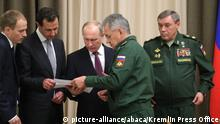 Russland Sotschi Treffen Assad und Putin (picture-alliance/abaca/Kremlin Press Office)