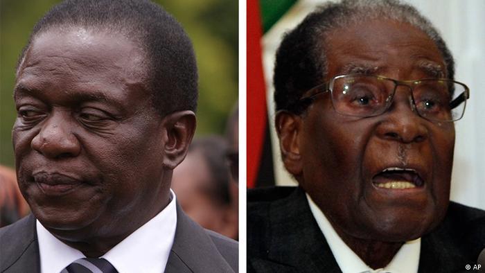Kombobild Mnangagwa (l) Mugabe (r) (AP)