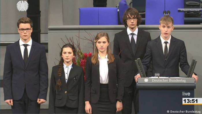 Russian students in the Bundestag