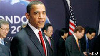 G20 Gipfel in London Barack Obama mit Delegation Südkorea