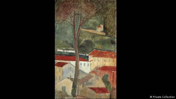 Cagnes Landscape by Modigliani (Private Collection)