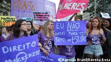 Brasilien Frauen demonstrieren gegen Abtreibungsgesetz