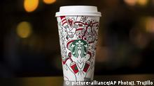 Starbucks Holiday Cup 2017 (picture-alliance/AP Photo/J. Trujillo)