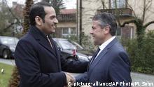 Bundesaußenminister Sigmar Gabriel begrüßt Katars Außenminister Mohammed bin Abdulrahman al-Thani  in Berlin