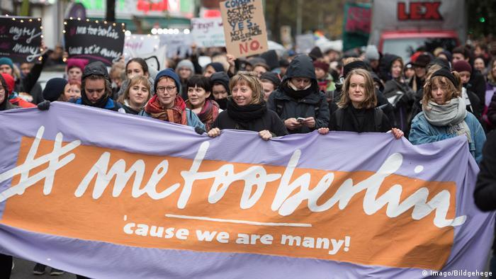 Демонстрация #MeToo в Берлине