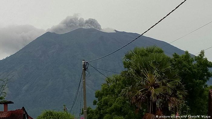 Indonesien Bali Vulkanausbruch Mount Agung