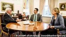 Deutschland Schloss Bellevue Gespräch zu Koalitionsverhandlungen Die Grünen