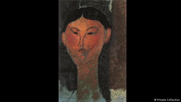 Portrait of Beatrice Hastings by Modigliani (Private Collection)