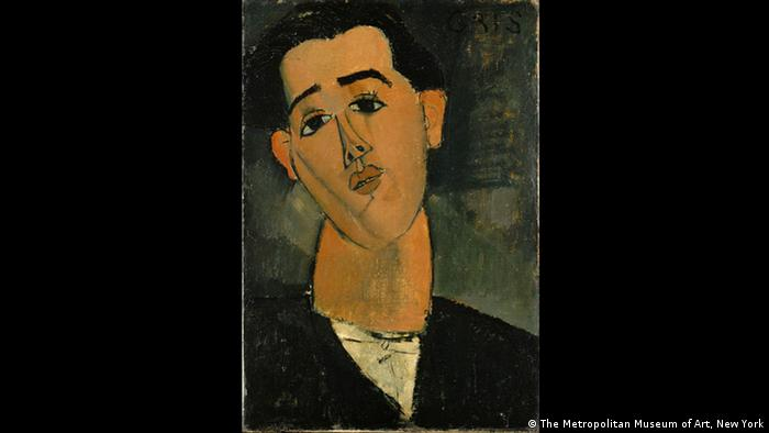 The portrait of Cuban painter Juan Gris by Modigliani (The Metropolitan Museum of Art, NY)