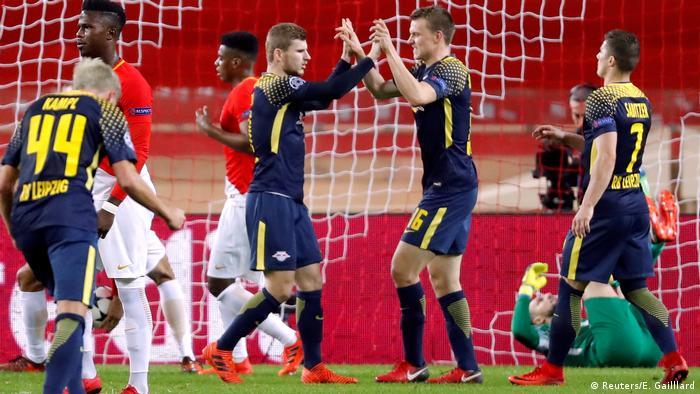 UEFA Champions League 5. Spieltag | AS Monaco - RB Leipzig | 3. Tor Leipzig (Reuters/E. Gailllard)