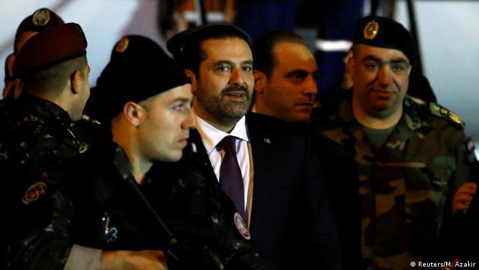 Libanon Rückkehr Saad al-Hariri (Reuters/M. Azakir)