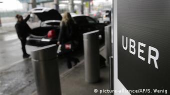 Логотип Uber в аэропорту Нью-Йорка