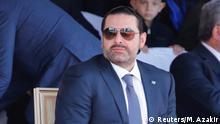 Libanon Premier Hariri zeigt sich in Öffentlichkeit