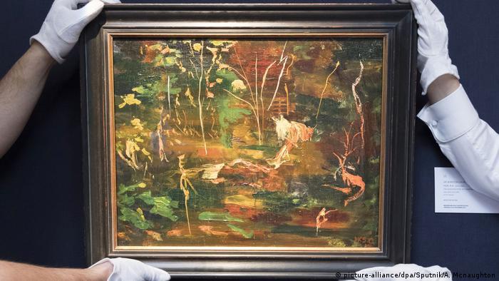 UK Winston Churchills Gemälde The Goldfish Pool at Chartwell (picture-alliance/dpa/Sputnik/A. Mcnaughton)