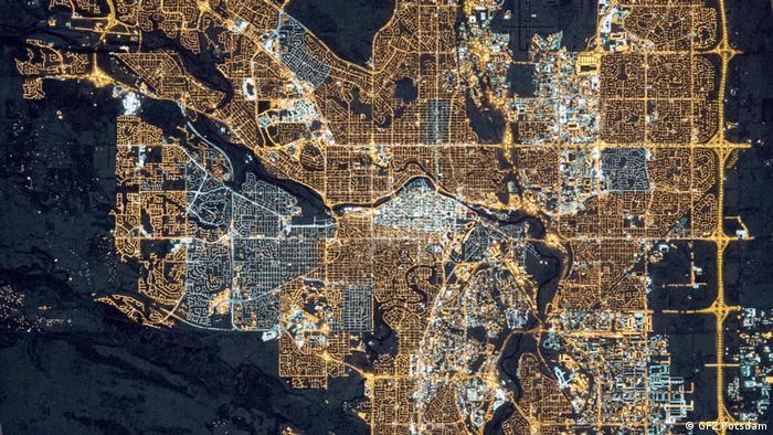 Kanada, Lichtverschmutzung Calgary 2015 (GFZ Potsdam)