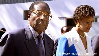 Robert Mugabe na mkewe Grace