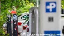 Elektroautos Ladeparkplatz Ladestation