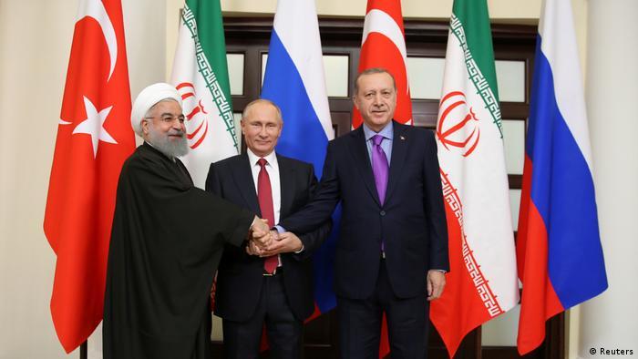 Erdogan, Putin und Rouhani treffen sich in Sochi (Reuters)