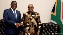 Südafrika Emmerson Mnangagwa, Simbabwe & Jacob Zuma in Pretoria