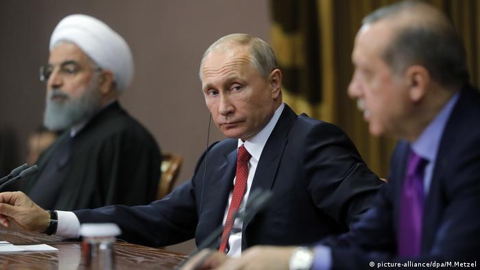 Sochi Treffen mit Erdogan, Putin und Rohani (picture-alliance/dpa/M.Metzel)